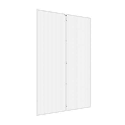 JAROLIFT Insektenschutz Magnetvorhang für Türen 160 x 230cm, weiss, individuell kürzbar Höhe und Breite