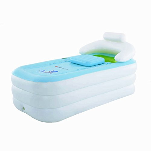 Intime Faltbare Aufblasbare Dicke Warme Erwachsene Badewanne, Spa-Badewanne, Kinder Aufblasbare Pool, Weiß