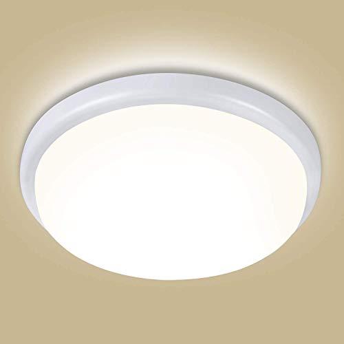 OEEGOO Deckenlampe led Deckenleuchte 4000K, 18W 1800lm(100Lm/W) LED Badleuchte, IP44 Wasserfeste Feuchtraumleuchte, Badezimmerlampe, Küchenlampe, Badlampe, Wohnzimmerleuchte, Schlafzimmerleuchte