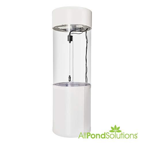 Säulenzylinder-Aquarium, JY-500, 147 Liter, Weiß