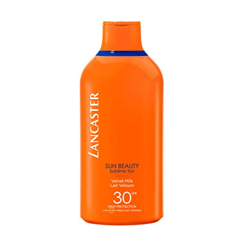 LANCASTER Sun Beauty Velvet Milk LSF 30, Körper-Sonnenschutz-Milch, Full-Light-Technologie, Bräunungsaktivator, 400 ml