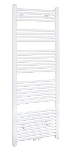 SixBros. R18 Badheizkörper (1500 x 600 mm, 856 Watt) - Heizkörper mit Handtuchhalter für das Bad - pulverbeschichtet – weiß