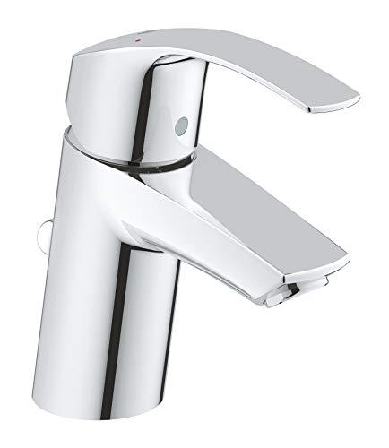 GROHE Eurosmart | Badarmatur - Einhand-Waschtischbatterie, mit Zugstange-Ablaufgarnitur | S-Size | chrom | 33265002
