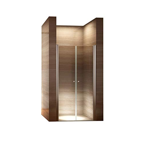 i-flair 78cm - Verstellbereich von 76-80cm, Höhe: 195 cm, Duschabtrennung, Duschtür aus 6mm Sicherheitsglas mit Nanobeschichtung