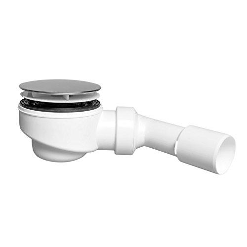 AQUADE Ablaufgarnitur mit Geruchverschluss für Duschwannen mit Ablaufloch Ø90mm, Deckel Edelstahl 114mm, in Deutschland hergestellte Qualität: Made In Germany