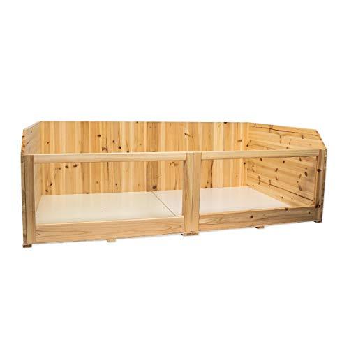 Timbo Kleintierstall Meerschweinchenstall Coco aus Holz, 120x70x40 cm (L/B/H), Freigehege, Freilaufgehege