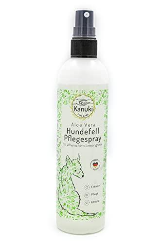 Kanuki Hundefell Pflegespray mit ätherischem Lemongrasöl 200ml – mit Aloe Vera für alle Felltypen – entwirrt und pflegt für ein geschmeidiges Fell – ohne Silikone und Mineralöle
