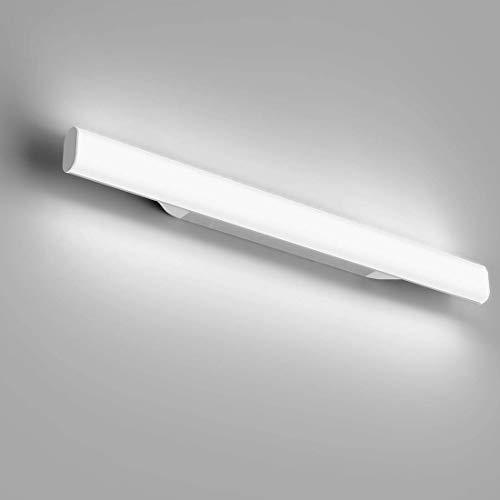 LED Spiegelleuchte, OOWOLF 6000K LED Spiegelleuchte Bad, 12w 1200LM kaltweißes LED Spiegelleuchte Badleuchte, 85-260 V, einfache Installation für Bad, Wohnzimmer, Schlafzimmer [Energieklasse A++]