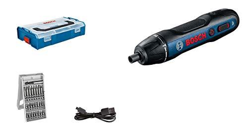 Bosch Professional Akkuschrauber Bosch GO (inkl. 25-tlg. Bit-Set, USB-Ladekabel, L-BOXX Mini) - Amazon Edition