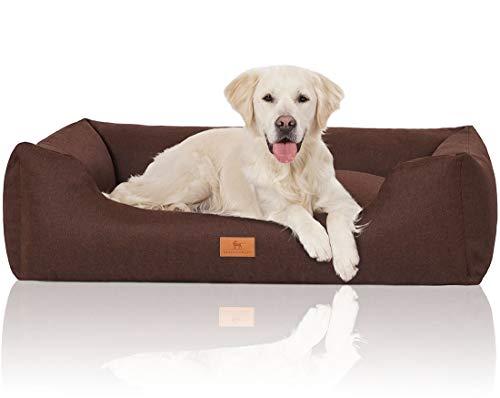 Knuffelwuff 14097-015 Hundebett Hundekörbchen Hundesofa Hundekissen Hundekorb Bezug Waschbar Grosse Hunde Xxl Lotte Grau