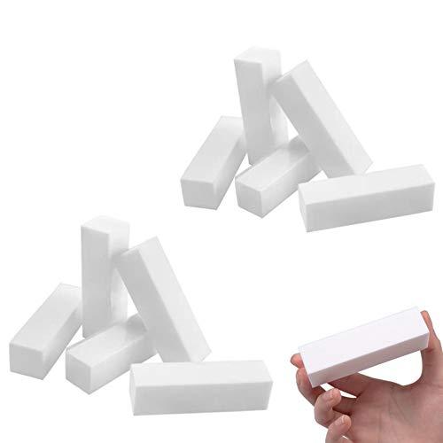 Buffer weiss 10 Stück, Buffer Schleifblöcke, Polierblock Buffer der neuen Generation Polierflächen Nagelfeile Block Nagelkunst Maniküre Werkzeug