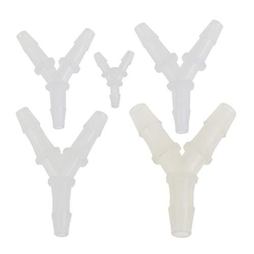 Schlauchverbinder für Aquarium-Luftpumpe, aus Polyethylen, Y-Form, 5 Stück a