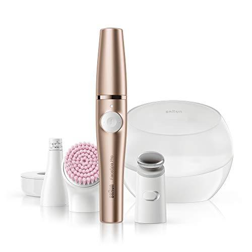 Braun Pro 921 FaceSpa, 3-in-1 Beauty Gerät für das Gesicht, mit Aufbewahrungsbox, Akkubetrieb, bronze