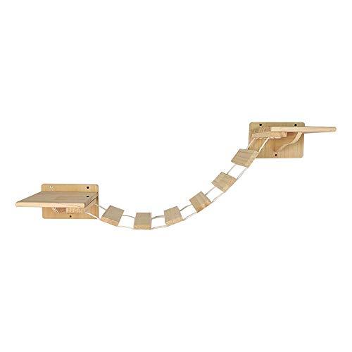 Felivecal wandmontage Cat Hängebrücke/katzenleiter Wand/katzenleiter Balkon/Massivholz-Katzenleiter/katzenmöbel modern Holz