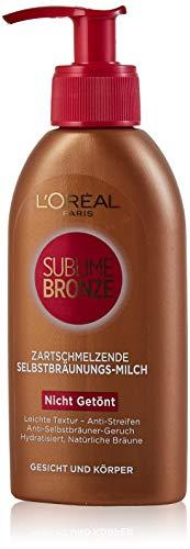 L'Oréal Paris Sublime Bronze Selbstbräunungsmilch, 150 ml
