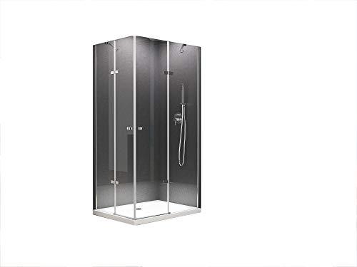 BuyLando.Shop [Typ-Josefine] Eck-Duschkabine - Dusche - ESG - Variationen (90x75x180cm)