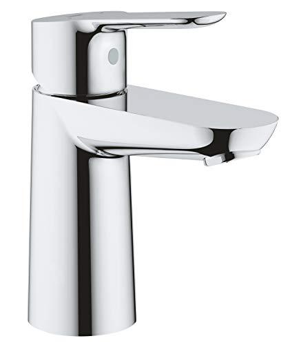 GROHE BauEdge | Badarmatur- Einhand-Waschtischbatterie, S-Size | mit Keramikkartusche | chrom | 23330000