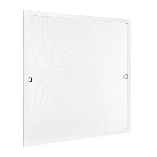 Ventanara Insektenschutz Fliegengitter Fenster Spannrahmen Weiß RAL 9016 100 x 130 cm