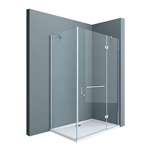 Sogood Eck-Duschkabine Eckdusche Rav04K 90x120x190cm Glasdusche ESG-Sicherheitsglas Klarglas inkl. Easy-Clean-Beschichtung