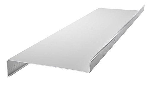 Aluminium Fensterbank Zuschnitt auf Maß Fensterbrett Ausladung 130 mm weiß, silber, dunkelbronze, anthrazit