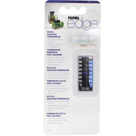 Fluval Edge Digitales Aquarium-Thermometer - 18° C bis 30° Celsius (64° bis 86° F)