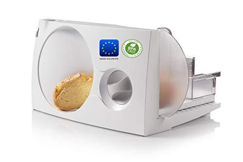 Emerio Allesschneider'Made in EU' MS-125000, Edelstahl Messereinheit in Deutschland produziert, einstellbar 0-17mm, BPA frei, platzsparend klappbar, mit Sicherheitsschalter, Eco 100Watt