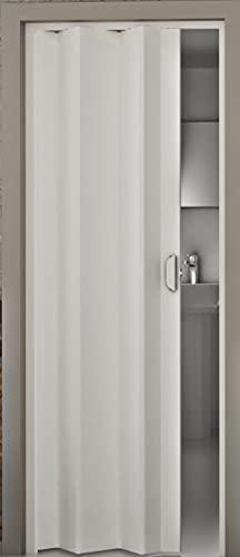 Falttür Kunststoff Monica weiß 83x204 cm doppelwandig 8 mm; Made in Italy