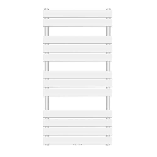 Badheizkörper - vertikal, 50 mm Anschluss, 6 bar, Mittelanschluss, Wandmontage, Größenwahl, Weiß oder Anthrazit - Handtuchwärmer
