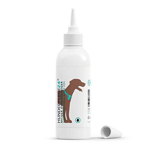Hundepflege24 Ohrenreiniger Hund 250ml - Beseitigt Juckreiz, Entzündung, Kopfschütteln & Gerüche innerhalb weniger Tage - Natürliche Ohrentropfen für Hunde & Katzen mit Kamille + Aloe Vera
