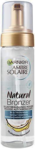 Garnier Ambre Solaire Natural Bronzer, Selbstbräunungs-Mousse, mit pflegendem Kokoswasser 1er Pack (1 x 200 ml)