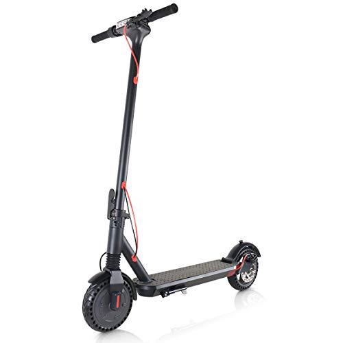 Windgoo Elektroroller, 8.5' Elektro Scooter mit 6.0 Ah Batterie, Faltbarer E Scooter Maximale Geschwindigkeit 20 km/h Anti Rutsch Reifenhöhe einstellbar für Teenager und Erwachsene (M12)