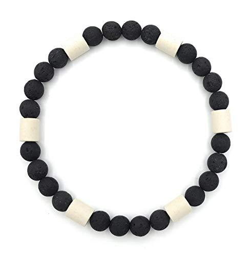 EM-Keramik Halsband für Hunde Schutz Halsband Schmuckhalsband mit Lavaperlen, handgemachter wetterfester natürlicher Schutz in verschiedenen Größen für Ihren Liebling