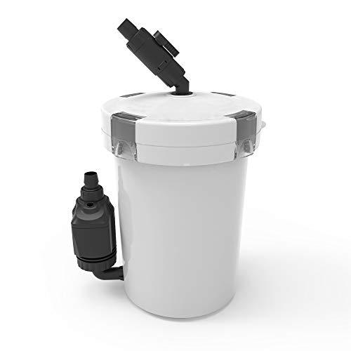 NICREW Aquarium Außenfilter, Einstellbarer Durchfluss Aquarienfilter mit Filtermaterial, 800 L/h