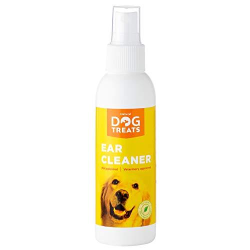 Ohrenreiniger für Hunde, 100% Natürlich & Vet Zugelassen, Eliminiert Ohrmilben, Hefepilz, Juckreiz, 125 ml 4.2 oz
