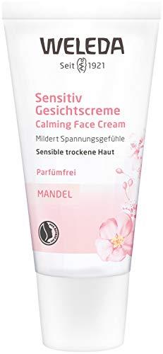 WELEDA Mandel Sensitiv Gesichtscreme, Naturkosmetik Feuchtigkeitscreme zur Pflege trockener, empfindlicher und sensibler Haut im Gesicht und am Hals für einen gesunden Teint (1 x 30 ml)