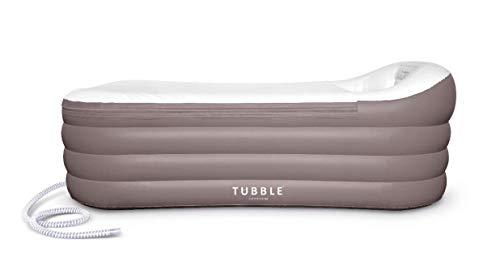 Tubble® Royale Air Bath - Aufblasbare Badewanne für Erwachsenen, Neue verbesserte Version (2021) - Jacuzzi, Mobile Badewanne, Bad, Wanne - Größe 255 Liter (156 cm) - Ambient Taupe