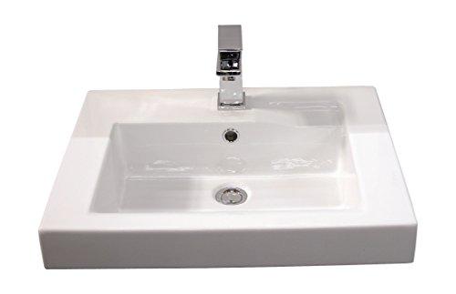 'aquaSu® Waschtisch linHa, Mit Clean-Glasur, 60 cm, Weiß, Waschbecken