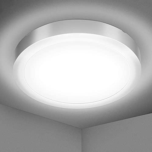 Elfeland LED Deckenleuchte 18W Deckenlampe Kaltweiß 5000K 1700lm Badlampe Decke Badleuchte IP54 Wasserfest Badezimmerlampe ideal für Badezimmer Wohnzimmer Schlafzimmer Küche Büro Balkon Flur Ø22.5cm