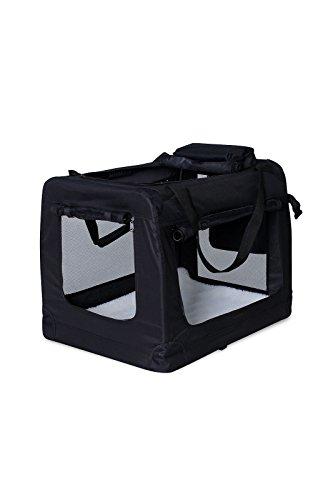 Hundetransportbox Hundetasche Hundebox faltbare Kleintiertasche Farbe Schwarz Größe M
