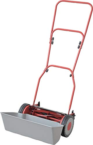 FANZTOOL Hand-Rasenmäher 5-stufige Schnitthöhenverstellung 10 mm bis 36 mm mit Grasfangkorb