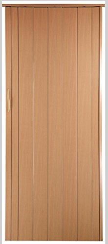 Falttür Schiebetür Tür buche farben Höhe 202 cm Einbaubreite bis 84 cm Doppelwandprofil Neu