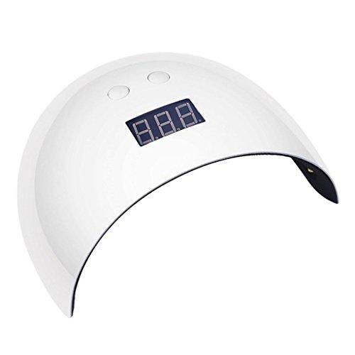 Solike Professioneller LED-Nageltrockner mit UV Nagellampe für Shellac und Gelnagellack Lichthärtegerät mit Timer, Tragbares Härtungsgerät für Maniküre, Aushärtungslampe für Fingernägel – weiß