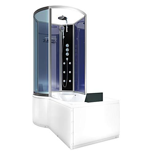 AcquaVapore DTP8050-A004R Wanne Duschtempel Badewanne Dusche Duschkabine 98x170 ohne