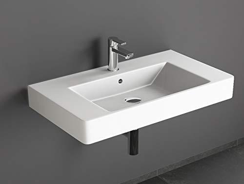 Aqua Bagno Design Waschbecken aus Keramik Waschtisch Hängewaschbecken KP.80   80 x 45 cm