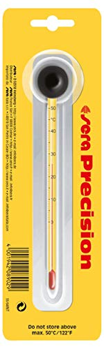 Sera 08902 Präzisionsthermometer - Thermometer fürs Aquarium - Hochpräzises Glasthermometer, Skala von 0 - 50 °C