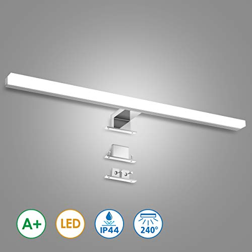 KINGSO LED Spiegelleuchte Badleuchte 12W 60cm IP44 LED Spiegellampe aus Acryl Neutralweiß Spiegellicht Badezimmer Led Schminklicht Schrank-Beleuchtung 4000K 800LM 230V
