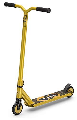 Fuzion X-3 Stunt Scooter -Stunt Roller - Trick Roller Für Kinder (Gold/Gold)