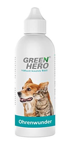 Green Hero Ohrenwunder für Hunde und Katzen pflegt bei Ohrenmilben Jucken 200ml
