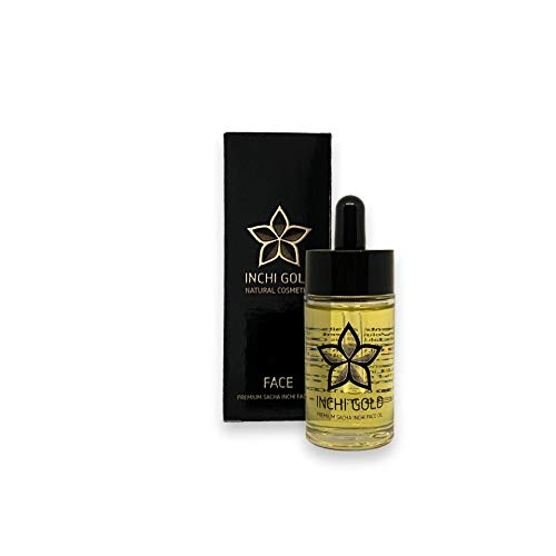 INCHI GOLD Premium Sacha-Inchi-Gesichtsöl (30 ml), vegan, Anti-Aging-Öl, dermatologisch getestet