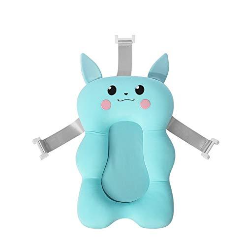 Faltbare Baby Bad Pad Badewanne Pad Baby Badewanne Pad Neugeborenen Baby Badewanne Duschkissen Matte Baby-Badekissen Neugeborenen Badewanne Sitz Infant Unterstützung Kissen Mat (Blau)